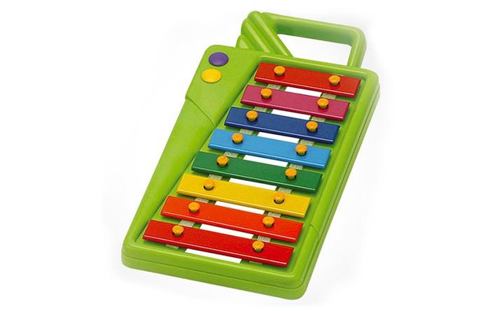 Музыкальная игрушка Reig Ксилофон НатураКсилофон НатураМузыкальная игрушка Reig Ксилофон Натура 8 клавиш - замечательная игрушка для юнных музыкантов.   Игра на ксилофоне способствует развитию мелодического слуха, ритма и музыкальной памяти, совершенствует координацию движений руки.   В ксилофоне 8 нот.  В комплект с ксилофоном входят 2 пластмассовые палочки.<br>