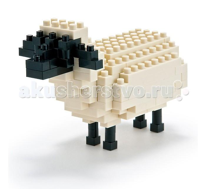 Конструктор Nanoblock Овца 120 элементовОвца 120 элементовNanoblock Овца 120 элементов  Микро-конструктор NanoBlock (Япония) - самый маленький в мире конструктор, крайне необычный, как все японское. Высокоточные трехмерные модели из деталей подобных Лего, но предельно уменьшенных в размерах, стали хитом в Японии и буквально произвели фурор в Америке, Европе, Азии и Австралии.   Самая маленькая деталь конструктора - 4 мм х 4 мм, а классический прямоугольный элемент 2-на-4 точки имеет размер 8 мм х 16 мм и 5 мм высотой. Запатентованный дизайн деталей и высочайшее качество пластика обеспечивают надежное соединение даже при таких небольших размерах. Нано-размер деталей позволяет добиться невероятной реалистичности у собранных конструкций.   В результате получаются небольшие по масштабу объекты невиданной точности.Конструктор продается в пакете или коробочке с заданным количеством деталей, необходимых для сборки объекта указанного на упаковке.Сборка одного объекта в среднем занимает от 10 минут до нескольких часов.<br>