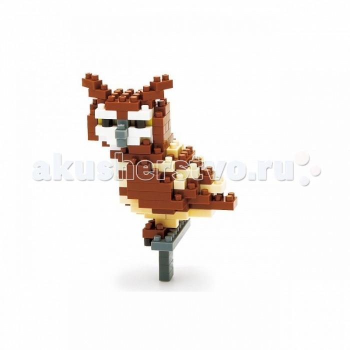 Конструктор Nanoblock Сова 140 элементовСова 140 элементовNanoblock Сова 140 элементов  Микро-конструктор NanoBlock (Япония) - самый маленький в мире конструктор, крайне необычный, как все японское. Высокоточные трехмерные модели из деталей подобных Лего, но предельно уменьшенных в размерах, стали хитом в Японии и буквально произвели фурор в Америке, Европе, Азии и Австралии.   Самая маленькая деталь конструктора - 4 мм х 4 мм, а классический прямоугольный элемент 2-на-4 точки имеет размер 8 мм х 16 мм и 5 мм высотой. Запатентованный дизайн деталей и высочайшее качество пластика обеспечивают надежное соединение даже при таких небольших размерах. Нано-размер деталей позволяет добиться невероятной реалистичности у собранных конструкций.   В результате получаются небольшие по масштабу объекты невиданной точности.Конструктор продается в пакете или коробочке с заданным количеством деталей, необходимых для сборки объекта указанного на упаковке.Сборка одного объекта в среднем занимает от 10 минут до нескольких часов.<br>