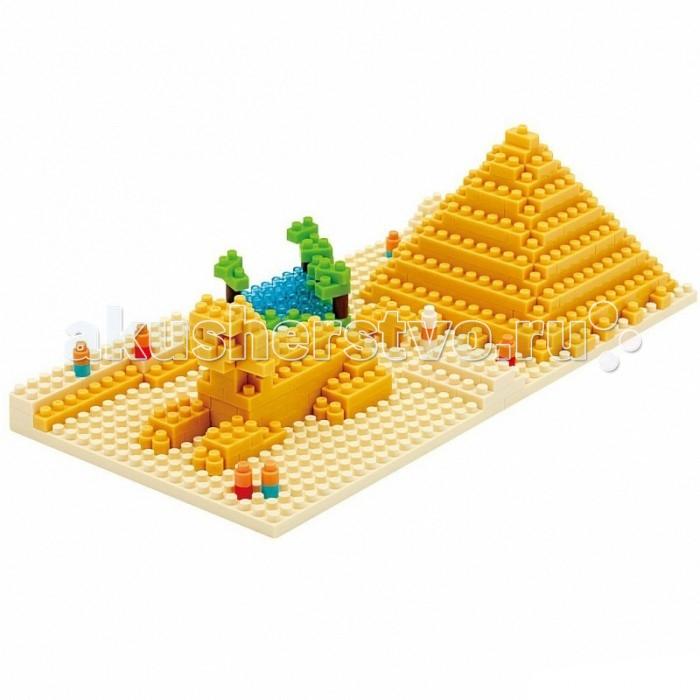 Конструктор Nanoblock Пирамида Хеопса 260 элементовПирамида Хеопса 260 элементовNanoblock Пирамида Хеопса 260 элементов  Микро-конструктор NanoBlock (Япония) - самый маленький в мире конструктор, крайне необычный, как все японское. Высокоточные трехмерные модели из деталей подобных Лего, но предельно уменьшенных в размерах, стали хитом в Японии и буквально произвели фурор в Америке, Европе, Азии и Австралии.   Самая маленькая деталь конструктора - 4 мм х 4 мм, а классический прямоугольный элемент 2-на-4 точки имеет размер 8 мм х 16 мм и 5 мм высотой. Запатентованный дизайн деталей и высочайшее качество пластика обеспечивают надежное соединение даже при таких небольших размерах. Нано-размер деталей позволяет добиться невероятной реалистичности у собранных конструкций.   В результате получаются небольшие по масштабу объекты невиданной точности.Конструктор продается в пакете или коробочке с заданным количеством деталей, необходимых для сборки объекта указанного на упаковке.Сборка одного объекта в среднем занимает от 10 минут до нескольких часов.<br>