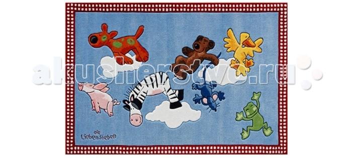 Boing Carpet Ковёр Die Lieben Sieben 2198Ковёр Die Lieben Sieben 2198Ковёр Die Lieben Sieben 2198 привнесет много ярких и радостных красок и эмоций при оформлении детской комнаты.  На этом ковре ребенку непременно понравится играть, сидеть или просто лежать, набираясь сил после активных игр.  В состав волокон, используемых при производстве ковра входит Хитозан - вещество 100% натурального происхождения, обладающее антибактериальным свойством и нейтрализующее запахи.  Высота ворса составляет 10 мм.<br>