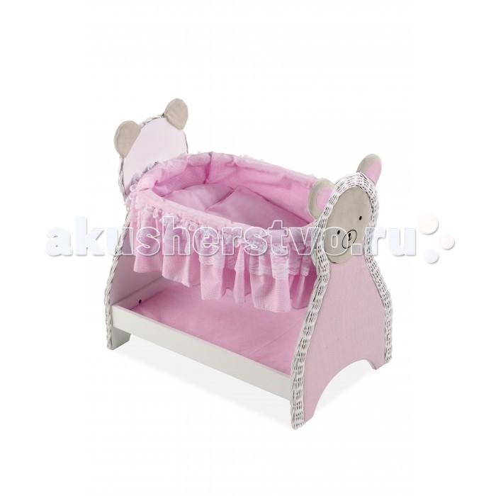 Кроватка для куклы Arias Деревянная Elegance 52 смДеревянная Elegance 52 смArias Деревянная кроватка для кукол Elegance 52 см  Прекрасная деревянная кроватка с постелькой и нижней полочкой, на боковинах кроватки изображены мордочки медведей  Размер кроватки: 52 x 34 x 50 см Возраст: от 2 лет<br>