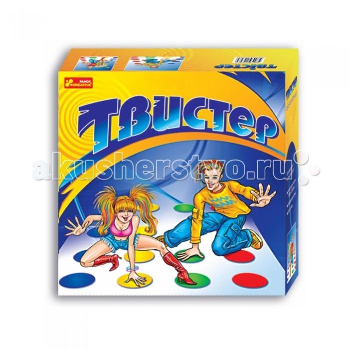 Ранок Подвижная игра ТвистерПодвижная игра ТвистерПодвижная игра Твистер — это развлекательно-познавательная игра, которая популярна во всем мире. С ее помощью вы сможете совместить приятное дело с полезным: поупражняться в гибкости, ловкости, умении сохранять равновесие и стойкость при любых обстоятельствах, а также весело и интересно провести время в кругу своих друзей.  Тот участник, кто окажется самым гибким, пластичным, умеющим выползать в буквальном смысле из самых сложных ситуаций, победит.  Кроме того, количество участников в этой игре не ограничено!  Набор включает в себя: игровое поле 180 х 120 сантиметров, правила игры на русском языке, рулетку.  Размер картонной упаковки составляет: 32 х 32 х 8 сантиметров.  Вес с упаковкой составляет: 450 г  Игра предназначена для детей старше 6 лет.<br>