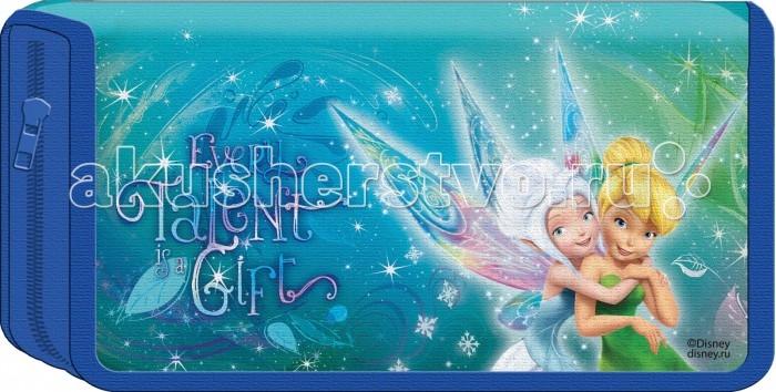 Disney Пенал 1-секционный картонный Феи Magic