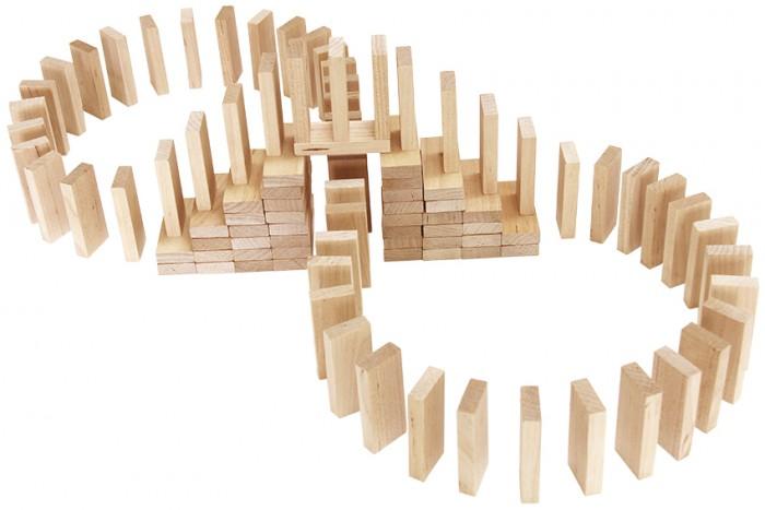 Деревянная игрушка Теремок Эффект домино 112 элементов
