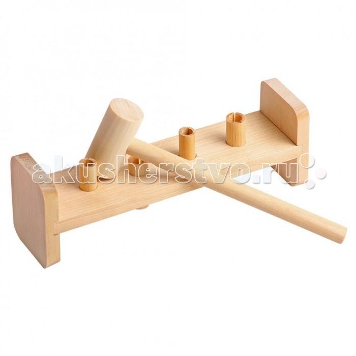 Деревянная игрушка Теремок Гвозди-перевертыши 4 гвоздика