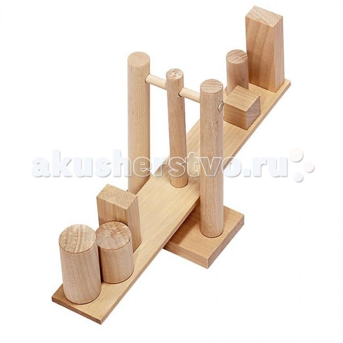 Деревянная игрушка Теремок Геометрические весы
