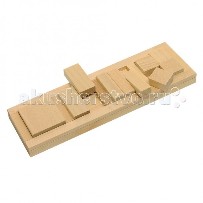 Деревянная игрушка Теремок Пазлы Дроби-квадрат