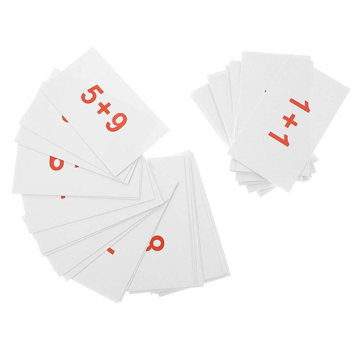 Вундеркинд с пелёнок Набор обучающих карточек Сложение 45 шт.Набор обучающих карточек Сложение 45 шт.Набор обучающих карточек Сложение от торговой марки Вундеркинд с пеленок поможет ребенку освоить такое математическое действие как сложение. В наборе представлено сорок пять различных карточек с примерами, благодаря которым ребенок быстро научится считать. Эти карточки станут не только началом в изучении математики, но и будут отличным тренажером в решении задач.  Основные характеристики:   Количество карточек: 45 шт. Размер упаковки: 7 x 10 x 2 см Размер карточки: 5.5 x 10 см Вес: 0,1 кг<br>