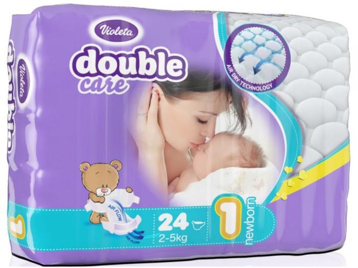 Violeta Подгузники размер 1 Newborn (2-5 кг) 24 шт.