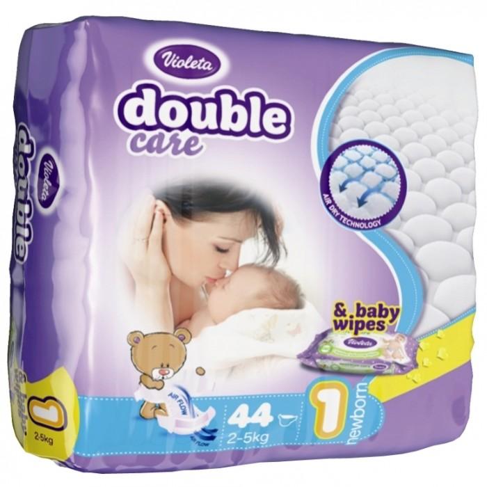 Violeta Подгузники размер 1 Newborn (2-5 кг) 44 шт.