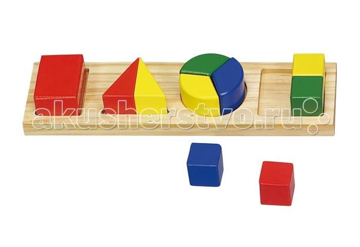 Деревянная игрушка Затейники Логика GT5752 Дроби Сборные 11 деталей