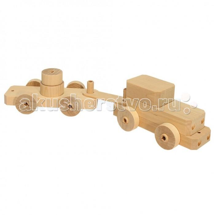 Каталка-игрушка Теремок Конструктор Автомобиль с прицепом