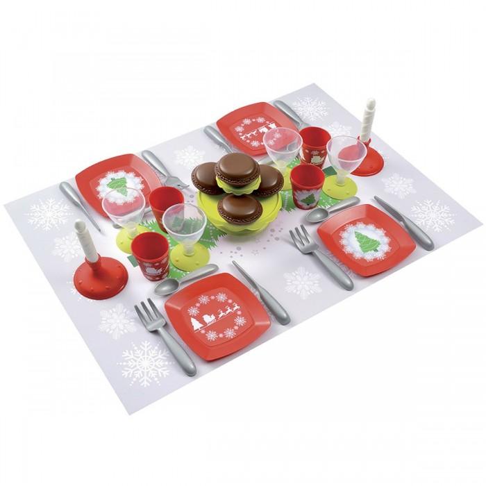 Ecoiffier Набор посудки С Новым Годом 24 предмета