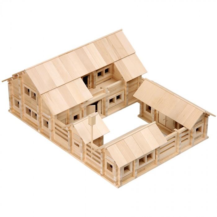 Конструктор Теремок Постоялый двор 1215 деталейПостоялый двор 1215 деталейТеремок Конструктор Постоялый двор 1215 деталейь  Упаковка деревянная коробка. Благодаря большому разнообразию видов деталей этого конструктора из него можно собрать все модели домиков, изображенные на коробке, а также построить свои модели.   К конструктору прилагаются подробные инструкции, в них тщательно разъяснены правила игры, приведены пошаговые планы строительства нескольких моделей: от простых до наиболее сложных. Конструктор изготовлен из натурального материала – сибирской березы. Все детали конструктора тщательно зашлифованы и подогнаны друг к другу. В основе сборки используется один из видов традиционного русского строительства, так называемый «сруб с остатком».   Конструктор увлечет не только ребенка, но и взрослого. Игра максимально приближена к реальному процессу строительства.<br>