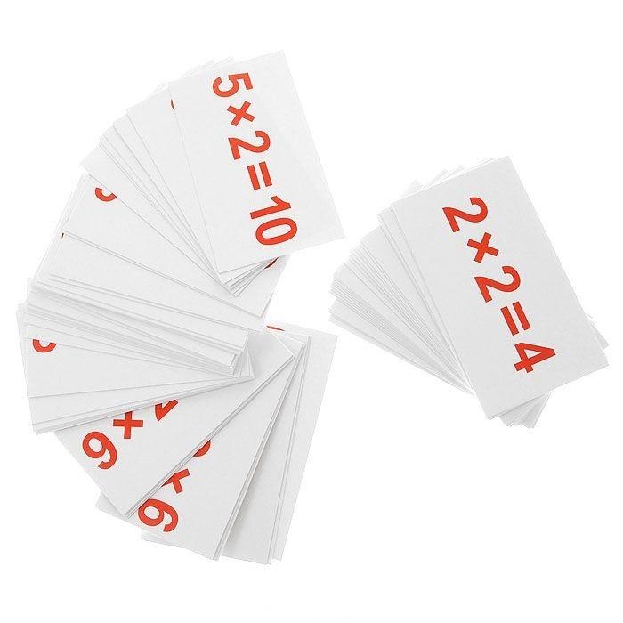 Вундеркинд с пелёнок Обучающие мини-карточки Умножение 75 шт.Обучающие мини-карточки Умножение 75 шт.Родителям, желающим, чтобы их маленький ребенок стал умнее, необходим набор карточек Умножение от бренда Вундеркинд с пеленок. В набор входит 75 карточек, благодаря которым малыш сможет выучить всю таблицу умножения в произвольном порядке. Таким образом ребенок сможет выдавать правильные ответы не задумываясь, в каком из столбиков таблицы умножения находится верный ответ. Система обучения состоит в том, чтобы запоминать те или иные примеры, давая ответ и незамедлительно проверяя себя. Процесс изучения пройдет гораздо плодотворнее и быстрее, ребенок с легкостью освоит умножение и будет готов к новым заданиям и испытаниям.  Основные характеристики:   Количество карточек: 75 шт. Размер упаковки: 15.5 x 8.6 x 2.3 см Размер карточки: 10 х 5 см Вес: 0,1 кг<br>