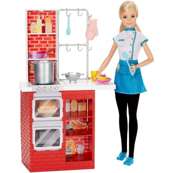 Barbie Игровой набор Шеф итальянской кухни с куклой Барби