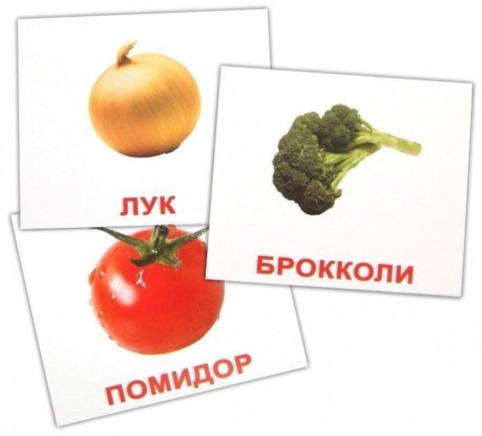 Вундеркинд с пелёнок Обучающие мини-карточки Овощи 20 шт.
