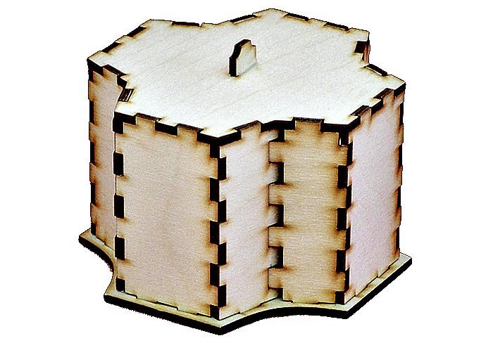 Конструктор Полноцвет Шкатулка Многогранная 12339Шкатулка Многогранная 12339Полноцвет Конструктор Шкатулка Многогранная - среди девушек всегда были популярны деревянные шкатулки для хранения своих украшений. Эта шкатулка станет трогательным подарком для маленькой модницы, который будет долго ей служить.В любой комнате такая вещь, как шкатулка из дерева, будет выглядеть красиво и уместно, а так же очень функционально.  Этот деревянный конструктор развивает у детей конструкторские навыки. Его можно декорировать или раскрашивать, а также можно использовать для хранения различных мелочей.   В комплект входит:  элементы конструктора  подробная цветная инструкция по сборке<br>