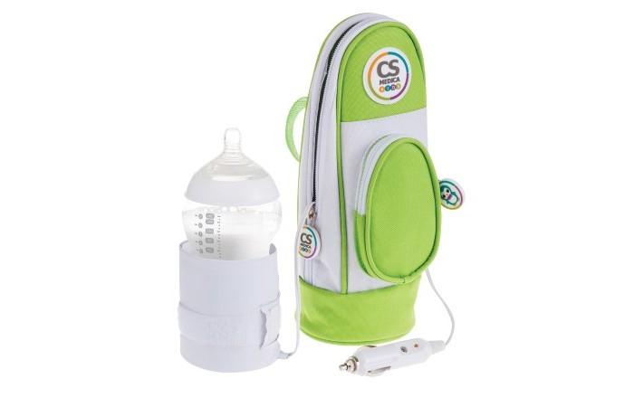 CS Medica Автомобильный подогреватель KIDS CS-21Автомобильный подогреватель KIDS CS-21CS Medica Автомобильный подогреватель KIDS CS-21 предназначен для быстрого и бережного подогрева бутылочек с жидкостью (молоком или молочной смесью ), а также баночек с гомогенизированным детским питанием до температуры, комфортной для кормления ребенка. Использование подогревателя позволяет сохранить полезные питательные вещества молока и детского питания, что жизненно необходимо для здорового развития ребенка. Прибор является незаменимым помощником при длительных поездках на автомобиле и путешествиях.  Особенности: Универсальный размер прибора позволяет использовать большинство коммерчески доступных бутылочек для кормления: подходит для использования всех типов бутылочек, а также совместим с бутылочками широкой формы; Термосумка. внутренний современный термоизоляционный материал подогревателя позволяет длительное время (до 3х часов) сохранять питание не только в теплом состоянии после подогрева в подогревателе, но также в охлажденном состояниипосле холодильника. Удобство хранения и переноски. Эргономичная конструкция прибора и наличие специальных ручек для переноски и крепления подогревателя к предметам (поясной ремень, детская коляска, сумка и др.) обеспечивают удобство использования. Силиконовая вставка в нижней части прибора обеспечивает максимальное сцепление с поверхностью и препятствует нежелательному скольжению прибора во время его использования.<br>