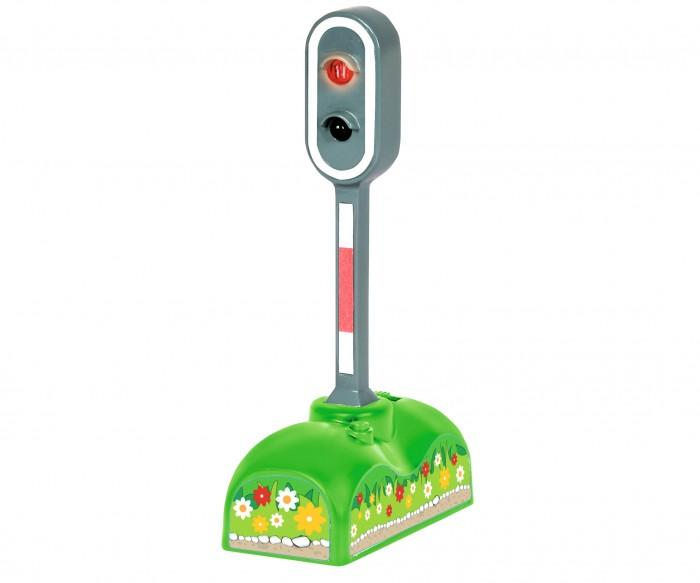 Eichhorn Сигнал функциональный СветофорСигнал функциональный СветофорEichhorn Сигнал функциональный Светофор 100001520  Железнодорожный знак Светофор - игрушка, которая позволит не только научить малыша основам ПДД, но и внесет разнообразия в детские сюжетные сценки. Светофор имеет два цвета - зеленый и красный, которые сменяют друг друга каждые семь секунд. Игрушка имеет удобную подставку и работает от батареек. С таким светофором на игрушечной железной дороге никогда не произойдет аварии!  Размер игрушки: 6.5 х 3 х 12.5 см. Наличие батареек: входят в комплект. Тип батареек: 2 x AAA / LR0.3 1.5V (мизинчиковые).<br>