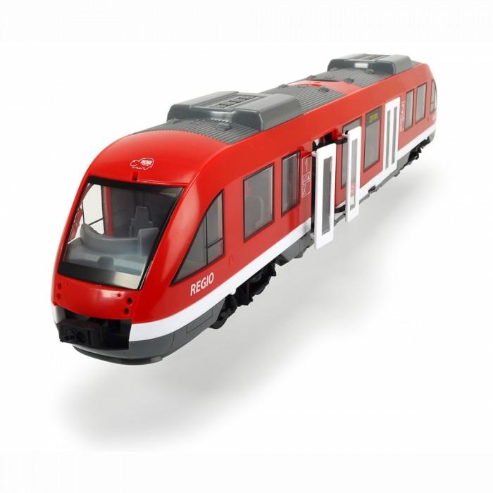 Dickie Городской поезд 1:43 45 смГородской поезд 1:43 45 смDickie Городской поезд 1:43 45 см 3748002  Игрушечный городской поезд от производителя Dickie понравится многим детям. Современный дизайн и точная детализация стильной модели, огромный размер игрушки - целых 45 см, а также эффектное цветовое оформление поезда привлекут внимание всех любителей игрушечного транспорта. У поезда открывающиеся двери и крыша, что делает его презентабельным и очень крутым.  Придумав различные сюжетные линии, ребенок сможет ощутить себя в роли водителя, который занимается развозкой пассажиров в городе.  Длина поезда: 45 см.<br>