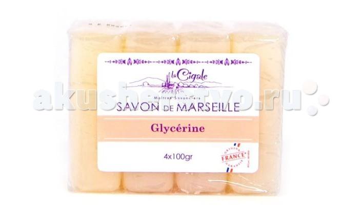 La Cigale Мыло марсельское глицериновое 4 шт. по 100 г