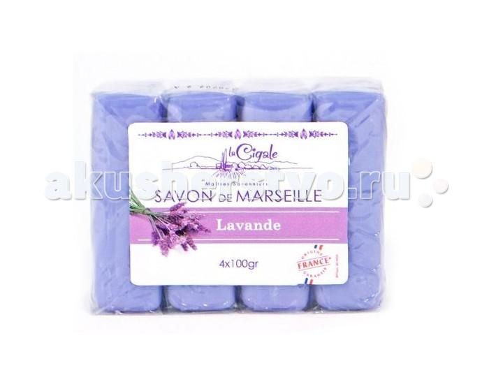 La Cigale Мыло марсельское Лаванда 4 шт. по 100 г