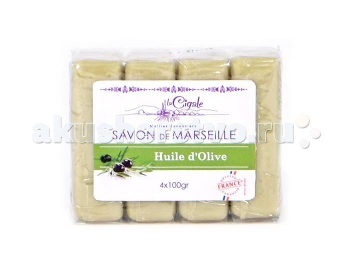 La Cigale Мыло марсельское Олива 4 шт. по 100 г