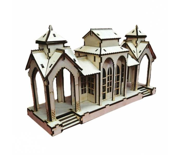 Конструктор Полноцвет деревянный Станция маленькая 162392деревянный Станция маленькая 162392Полноцвет Конструктор деревянный Станция маленькая станет прекрасным подарком для малыша. Игрушка предназначена для детей школьного возраста и взрослых. Прекрасно подходит для развития конструкторских навыков и моделирования.   Конструктор можно раскрашивать по желанию красками, карандашами и фломастерами. Готовая модель станет прекрасным украшением любой комнаты.   Изготовлен из экологически чистых материалов.  В комплект входит:  элементы конструктора на чип-борде подробная цветная инструкция по сборке<br>