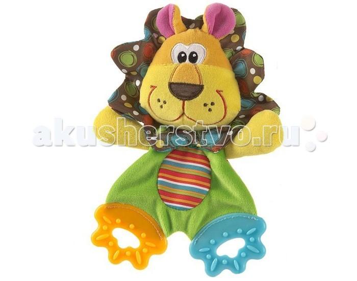 Развивающая игрушка Playgro Львенок 0183152Львенок 0183152Мягкий прорезыватель Львенок от фирмы Playgro понравится малышу. Ведь его удобно хватать за тельце, а значит, будет развиваться моторика, для этой же цели игрушку сделали из разнофактурной хлопчатобумажной ткани.   У львенка ножки-прорезыватели, изготовленные из мягкого термопластика, они будут успокаивать десна и чесать прорезывающиеся зубки. Милый львенок, такой яркий и забавный, что ребенок не захочет с ней расставаться.<br>