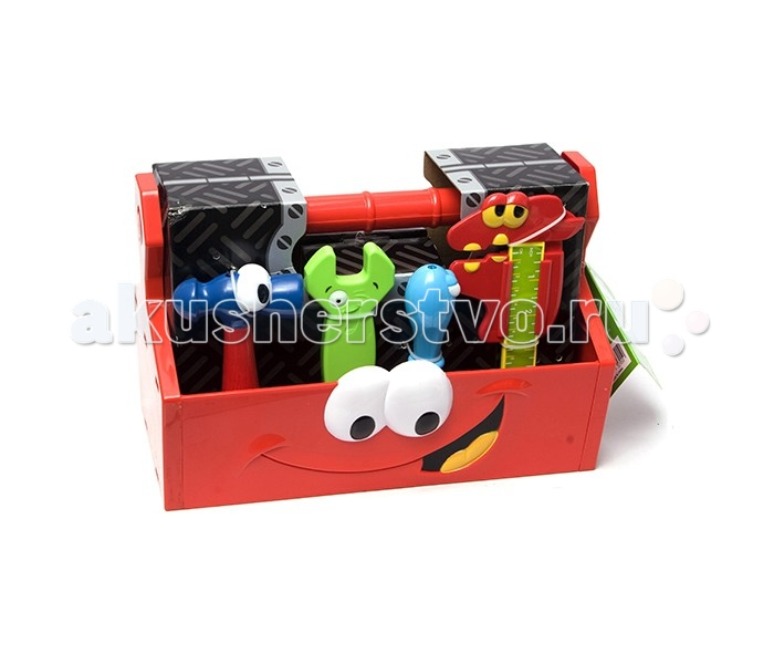 Boley Игровой набор инструментов из 14 шт. в коробкеИгровой набор инструментов из 14 шт. в коробкеИгровой набор инструментов от компании Boley - замечательный подарок для каждого мальчика к любому празднику.   В комплект входят 14 различных инструментов: пила, плоскогубцы, пассатижи, отвертка, гаечный ключ, уровнемер и многие другие.   С ними ребенок сможет почувствовать себя настоящим плотником или строителем, и затеять увлекательную сюжетно-ролевую игру.  Все предметы выполнены из высококачественных, экологически чистых материалов, совершенно безопасных для ребенка. Игрушка выглядит ярко и очень эффектно.   Внимание! Набор представлен в ассортименте.<br>