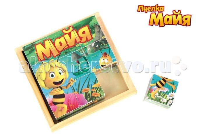Деревянная игрушка Пчелка Майя Кубики GT6288 9 штук