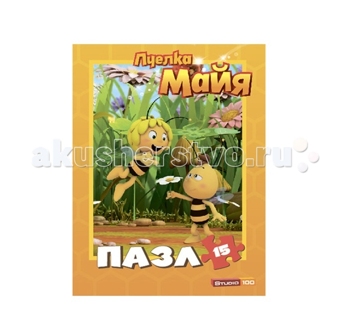 Пчелка Майя Пазл Майя и Вилли 15 деталей