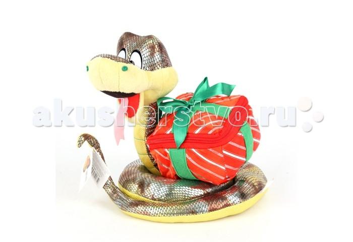 Мягкая игрушка Sonata Style Змейка с сундучком для подарка 23 см