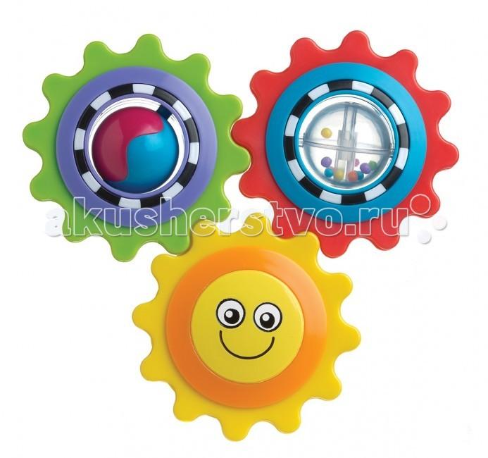 Развивающая игрушка Playgro Веселое солнышко 4082647Веселое солнышко 4082647Отличная развивающая игрушка «Веселое солнышко» от фирмы Playgro понравится малышу. Солнышки сделаны в виде шестеренок, которые можно составлять друг с другом в произвольном порядке. Игрушка привлекает внимание ребенка своими яркими деталями, тем самым развивая зрение и навык концентрации.   Дополнительные объекты внутри солнышек, помогут разносторонне рассказывают ребенку о мире. Сами же шестеренки можно грызть, помогая зубкам расти быстрее. Яркая и веселая игрушка, так понравится малышу, что он не захочет с ней расставаться.<br>
