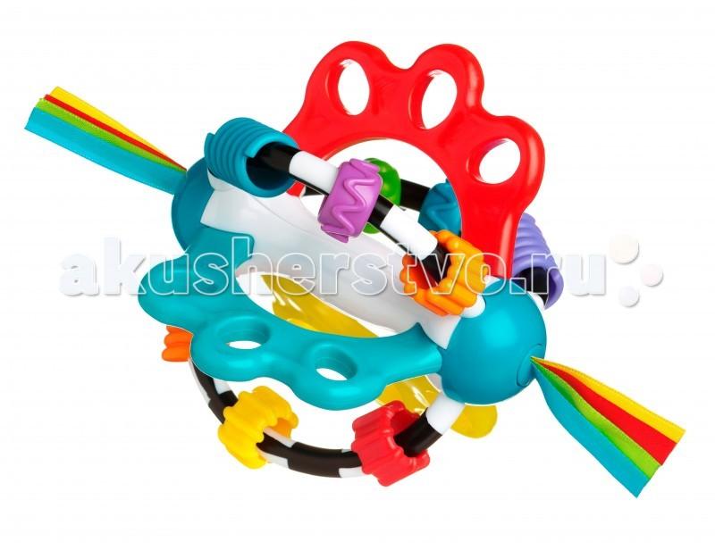 Развивающая игрушка Playgro 40824264082426Разносторонняя развивающая игрушка от фирмы Playgro понравится малышу. Ведь ее удобно хватать, а значит, будет развиваться моторика. Игрушка настолько многофункциональна, что проще один раз увидеть.   Яркие бусины, которые так весело перебирать, развивают не только зрение, но и моторику, что очень важно для правильного роста малыша.   Стоит отметить и текстильные вставки, такие же яркие и привлекательные, как и остальные части игрушки. Удобная развивающая игрушка, такая яркая и забавная, что ребенок не захочет с ней расставаться.<br>