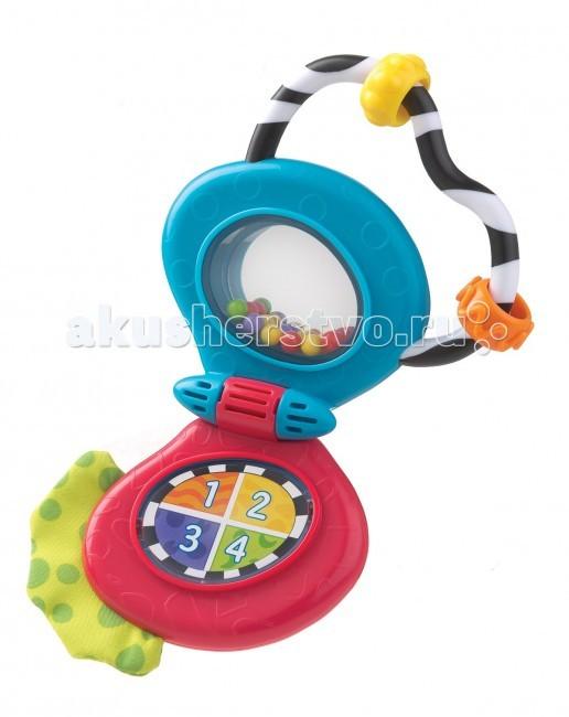 Playgro Телефон музыкальный 0182951Телефон музыкальный 0182951Музыкальная игрушка Телефон от фирмы Playgro, обязательно понравится вашему малышу.   У мобильного телефона есть 4 мелодии, которые проигрываются при нажатии соответствующей клавиши. Малышу понравится экспериментировать с новыми звуками, нажимая кнопочку, он услышит разные мелодии (всего их 4 вида). В верхней части телефона находится зеркальце с яркими шариками. Игрушка способствует развитию моторики, тактильных ощущений, причинно-следственных связей.<br>