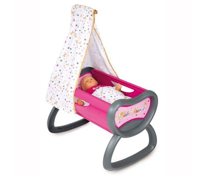 Кроватка для куклы Smoby Колыбель для пупса Baby Nurse 220311
