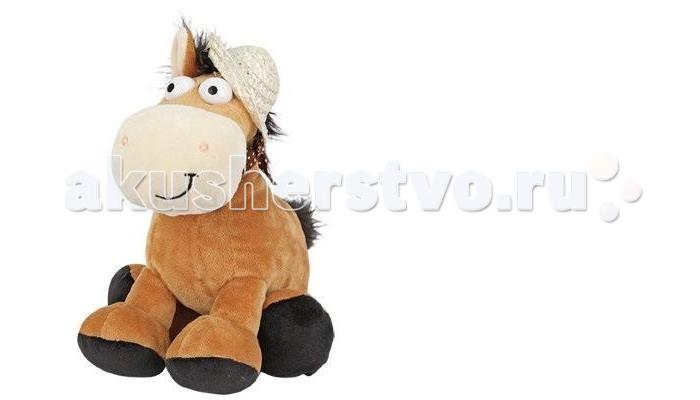 Мягкая игрушка Plush Apple Лошадка в шляпке 20 см со звуком