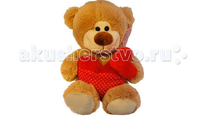 Мягкая игрушка Sonata Style Медведь с сердцами 22 см