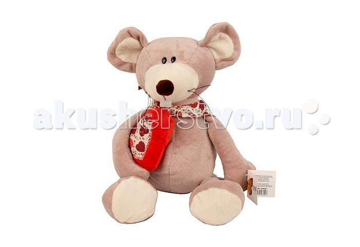 Мягкая игрушка Sonata Style Мышь с сердцем 25 см
