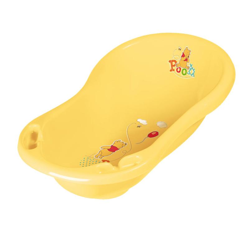 OKT ванночка Disney Винни Пух 84 смванночка Disney Винни Пух 84 смВанна OKT Disney Винни Пух - предназначена для купания детей от 0 месяцев и старше. Яркая, красивая ванночка непременно привлечет к себе внимание, ведь на ней изображены забавные животные. Для удобства использования предусмотрены два углубления для банных принадлежностей или игрушек. Ванночка выполнена из высококачественной пластмассы, которая отличается своей прочностью и долговечностью.  Максимальный рост: 84 см Размер, см: 84 x 49 x 30<br>