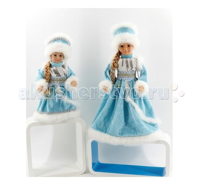 Северное сияние Снегурочка музыкальная IT101373 40 смСнегурочка музыкальная IT101373 40 смСеверное сияние Снегурочка музыкальная IT101373 40 см, которая олицетворяет внучку самого популярно новогоднего персонажа - Деда Мороза.  Особенности: Представленная новогодняя игрушка обладает звуковыми эффектами, а точнее она может исполнять на русском популярную песенку В лесу родилась елочка.  Такую игрушку можно поставить под елку или украсить ей какую-нибудь комнату в преддверии новогодних праздников.  В нижней части игрушки имеется подставка, которая позволяет ей стоять на любой ровной поверхности.<br>