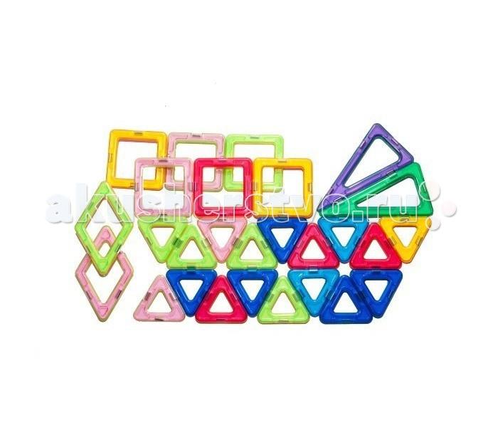 Конструктор МагМастер Набор Фантазия 26 деталейНабор Фантазия 26 деталейНабор МагМастер Фантазия, 26 деталей.  Набор Фантазия состоит из тщательно подобранных деталей, многие фантазии ребенка можно построить с его помощью.   В наборе: 16 треугольников, 6 квадратов, 2 ромба, 2 высоких треугольника.  Игра с детальками МагМастера помогает решать важные задачи развития и обучения ребенка: Внимательность и память Творческое мышление и воображение Логическое мышление и подготовка к изучению математики Моторика пальчиков и развитие речи Зрение и эстетическое развитие Координация движений и самостоятельность Наблюдательность и точность. Изобретательность и побуждение к размышлению Развитие произвольного внимания и усидчивости Развитие художественных способностей Развитие пространственно-архитектурных способностей Развитие чувства пропорции и симметрии Развитие способности к моделированию Чувство уверенности в себе Радость от познания мира и творчества Антистресс при нагрузках современных детей.<br>