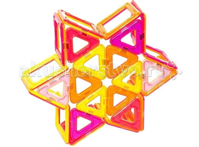 Конструктор МагМастер Набор Радуга 30 деталейНабор Радуга 30 деталейНабор МагМастер Радуга, 30 деталей.  Магнитный конструктор Радуга от компании МагМастер может стать отличной игрушкой для ребенка. Тридцать крупных деталей в форме геометрических фигур, соединяющихся между собой с помощью магнитов, могут образовать бесчисленное множество интересных комбинаций, количество которых ограничено лишь воображением ребенка.  Игра с детальками МагМастера помогает решать важные задачи развития и обучения ребенка: Внимательность и память Творческое мышление и воображение Логическое мышление и подготовка к изучению математики Моторика пальчиков и развитие речи Зрение и эстетическое развитие Координация движений и самостоятельность Наблюдательность и точность. Изобретательность и побуждение к размышлению Развитие произвольного внимания и усидчивости Развитие художественных способностей Развитие пространственно-архитектурных способностей Развитие чувства пропорции и симметрии Развитие способности к моделированию Чувство уверенности в себе Радость от познания мира и творчества Антистресс при нагрузках современных детей. Комплект: 12 треугольников, 18 квадратов.<br>