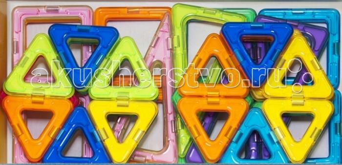 Конструктор МагМастер Набор Зоопарк 36 деталейНабор Зоопарк 36 деталейНабор МагМастер Зоопарк, 36 деталей.  Детали конструктора Зоопарк изготовлены из разноцветной пластмассы и выполнены в виде геометрических фигур, в стороны которых вставлены магниты. Из 36 треугольников, квадратов и ромбов ребенок сможет собрать разных представителей животного мира. Собранные игрушки смогут стать частью детских игр или украсить интерьер детской комнаты.  Игра с детальками МагМастера помогает решать важные задачи развития и обучения ребенка: Внимательность и память Творческое мышление и воображение Логическое мышление и подготовка к изучению математики Моторика пальчиков и развитие речи Зрение и эстетическое развитие Координация движений и самостоятельность Наблюдательность и точность. Изобретательность и побуждение к размышлению Развитие произвольного внимания и усидчивости Развитие художественных способностей Развитие пространственно-архитектурных способностей Развитие чувства пропорции и симметрии Развитие способности к моделированию Чувство уверенности в себе Радость от познания мира и творчества Антистресс при нагрузках современных детей. Комплект: 18 треугольника, 10 квадратов, 4 ромба, 4 высоких треугольника.<br>