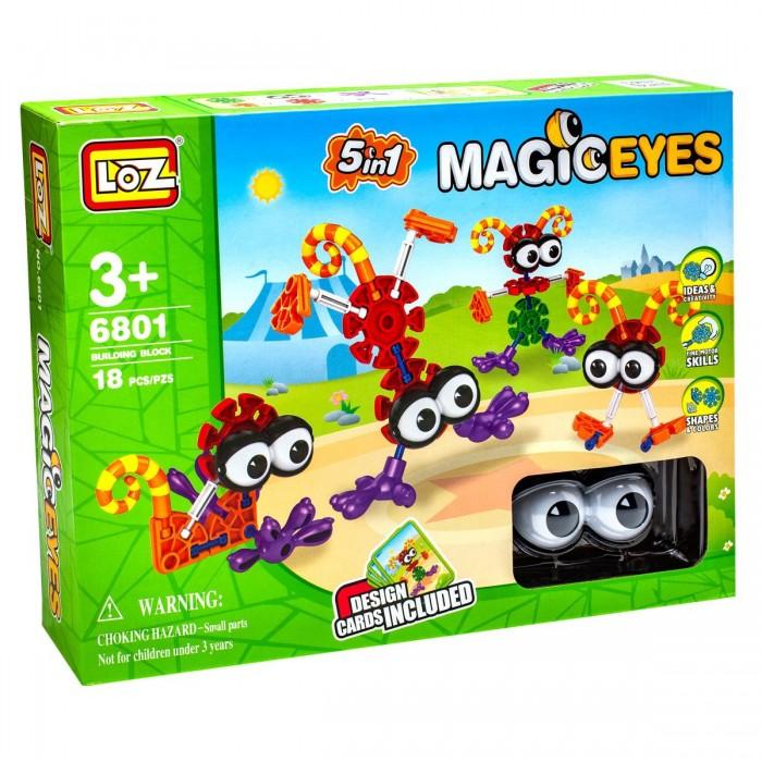 Конструктор Loz Magic Eyes 18 деталейMagic Eyes 18 деталейОригинальный конструктор Magic Eyes непременно понравится всем детям. Из необычных деталей можно сконструировать забавных роботов с большими смешными глазами. Все детали конструктора выполнены в ярких красочных цветах, а в комплекте есть карточки с изображениями возможных моделей. Играя с конструктором у ребенка есть возможность не ограничивать воображение и проявлять свои творческие способности.  В комплекте:  18 деталей конструктора; карточки.  Основные характеристики:   Размер упаковки: 30 x 22.5 x 6 см Вес: 0,44 кг<br>