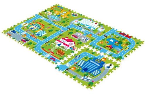 Игровой коврик Mambobaby Счастливый городСчастливый городРазвивающий коврик-пазл для ползания MamboBaby для детей от 0 до 4 лет, размер 180х120х2см.   Пазлы коврика являются фрагментами целого изображения, которые необходимо сложить воедино и увидеть законченную картинку.   Каждый пазл размерами 60х60 см. Коврик не обязательно собирать целиком. Каждый пазл можно использовать как отдельный коврик, если малыш совсем маленький. Коврик односторонний из мягкого, но прочного поролона. Не промокает, теплоизолирующий, суперлегкий.   Это идеальная площадка для ползания, игр и развития Вашего малыша. Изготовлен из безопасных материалов, не выделяющих токсинов и не имеющих запаха.   Производство Китай.<br>