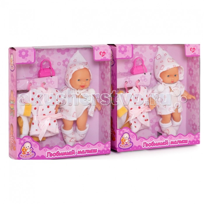 Муси-Пуси Любимый малыш Пупс с аксессуарамиЛюбимый малыш Пупс с аксессуарамиМуси-Пуси Любимый малыш Пупс с аксессуарами 8685 (144)  Любимый малыш - это забавный маленький пупс, который так похож на настоящего ребеночка. Он одет в носочки, трусики и кофточку с капюшоном. Пупса можно переодевать, купать, готовить ко сну и заботиться о нем совсем как о живом ребенке. В комплекте с пупсом идут аксессуары, которые несомненно разнообразят игру, например, халатик, в который пупса можно укутать после купания.  Внимание! Цветовое исполнение и дизайн элементов игрушки варьируется без возможности выбора. Цена указана за 1 шт.<br>